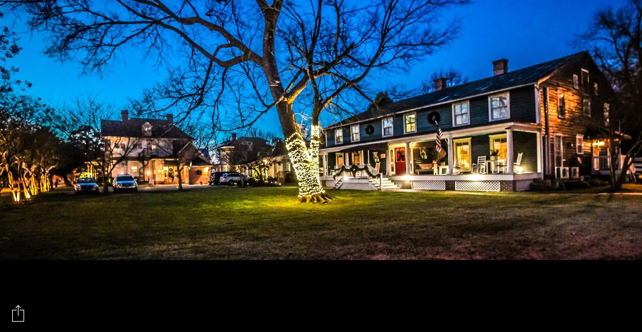 Evening time at our Edenton, North Carolina Hotel
