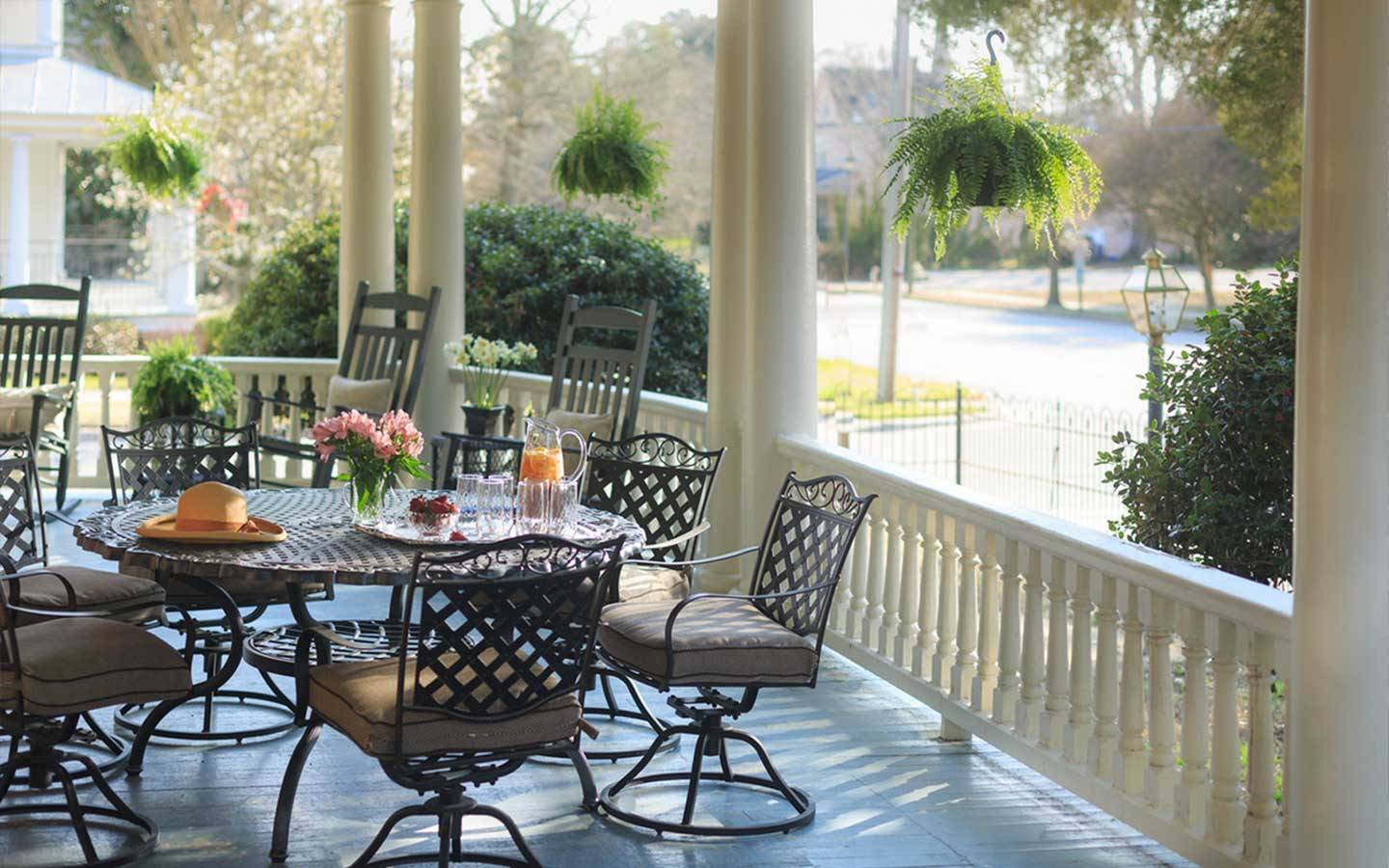 Enjoy the porch at our Edenton, North Carolina Hotel -