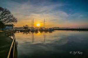 Picturesque Albemarle Sound at sunset