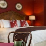 Romantic North Carolina Bed and Breakfast - bed, desk, and chair ADA Accessible