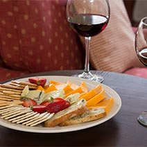 Cabernet Sauvignon with Crackers and Cheese Platter