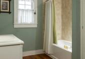 Romantic North Carolina Lodging - Pet Friendly - bathroom with shower and tub