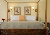 Albemarle Suite, Romantic Getaways in North Carolina. View of the bed from the footer
