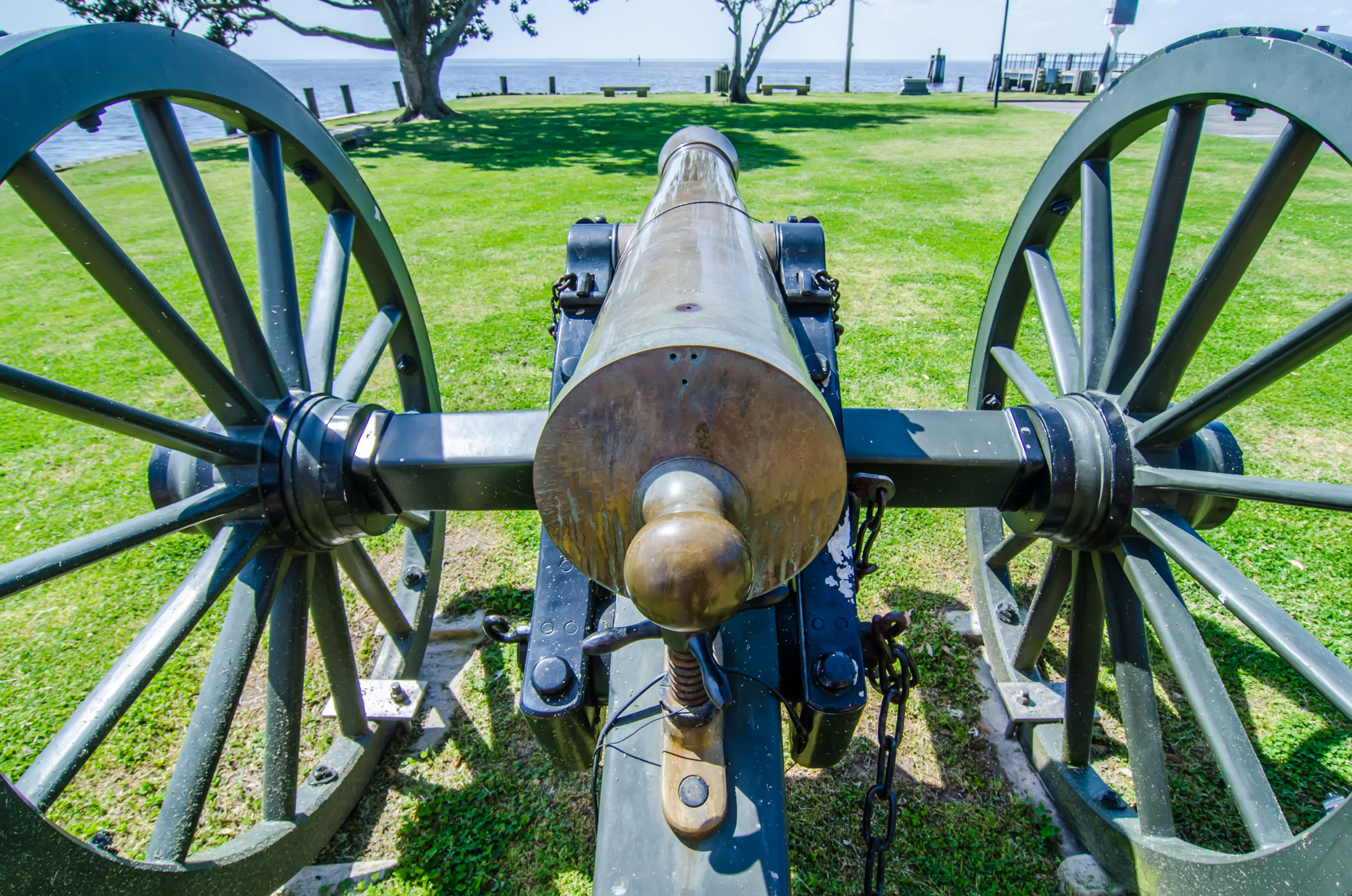 Cannon from the Battle of Albemarle Sound in Historic Edenton