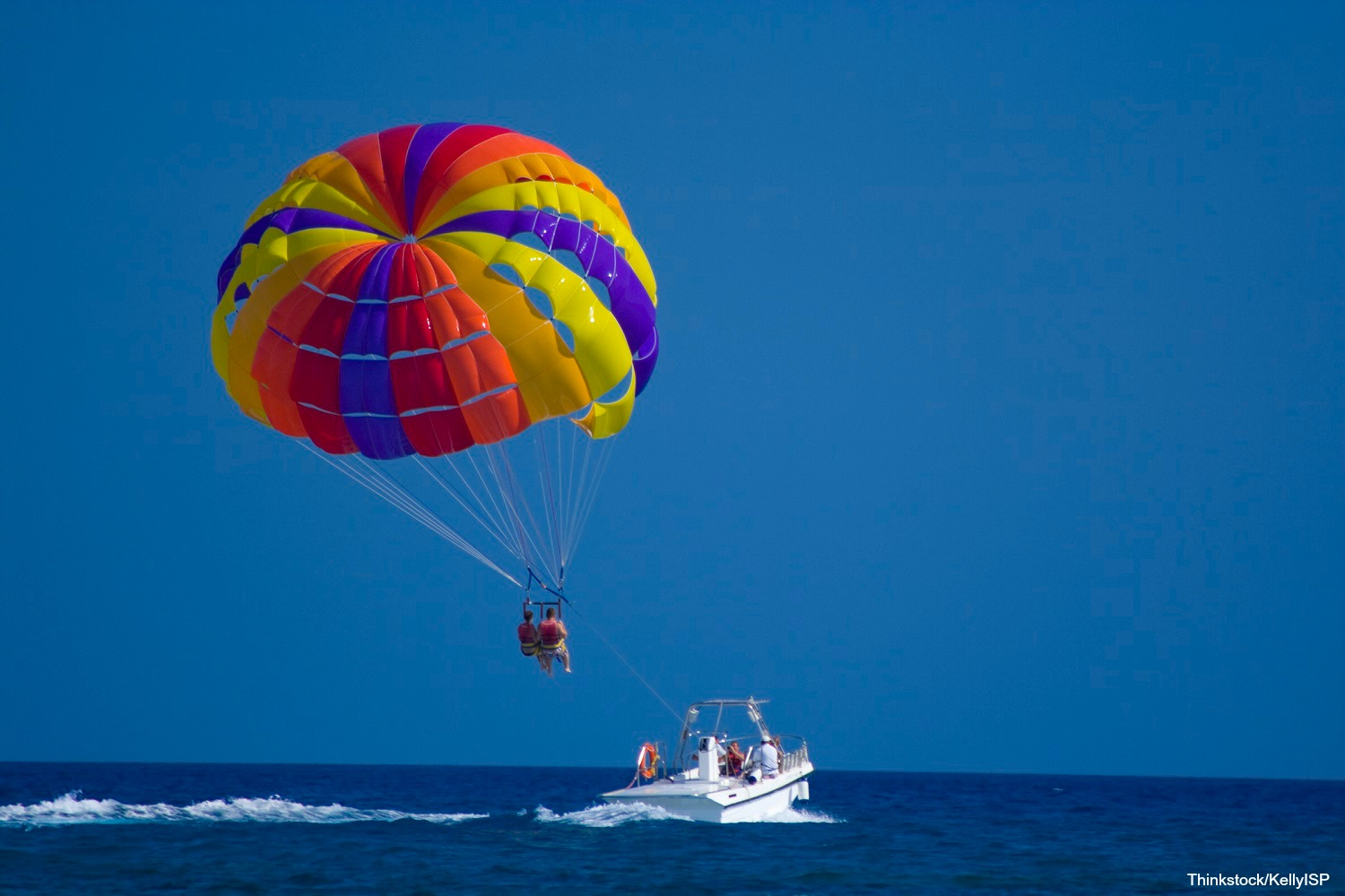 Parasailing on the Albemarle Sound