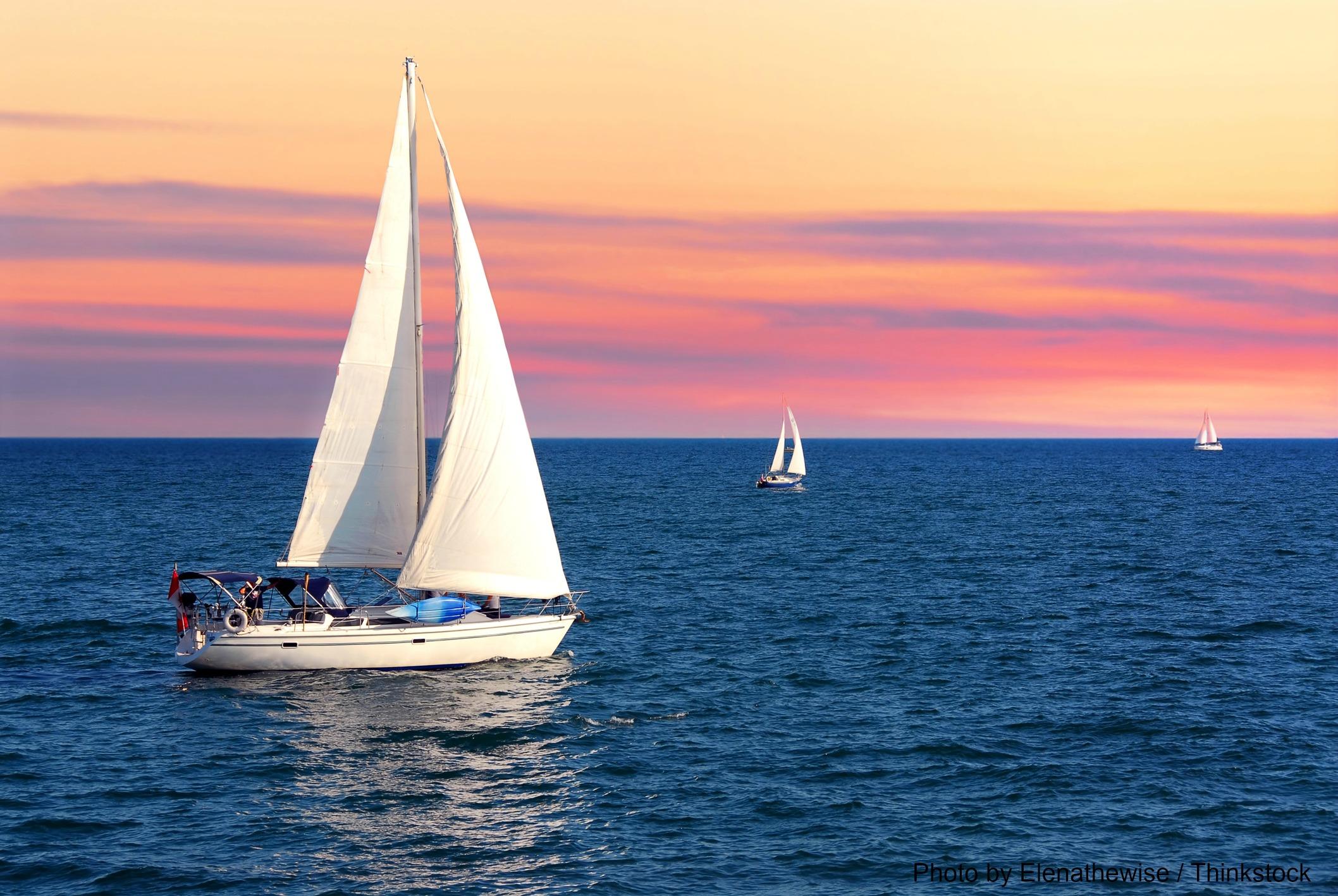 Sunset sailing in North Carolina