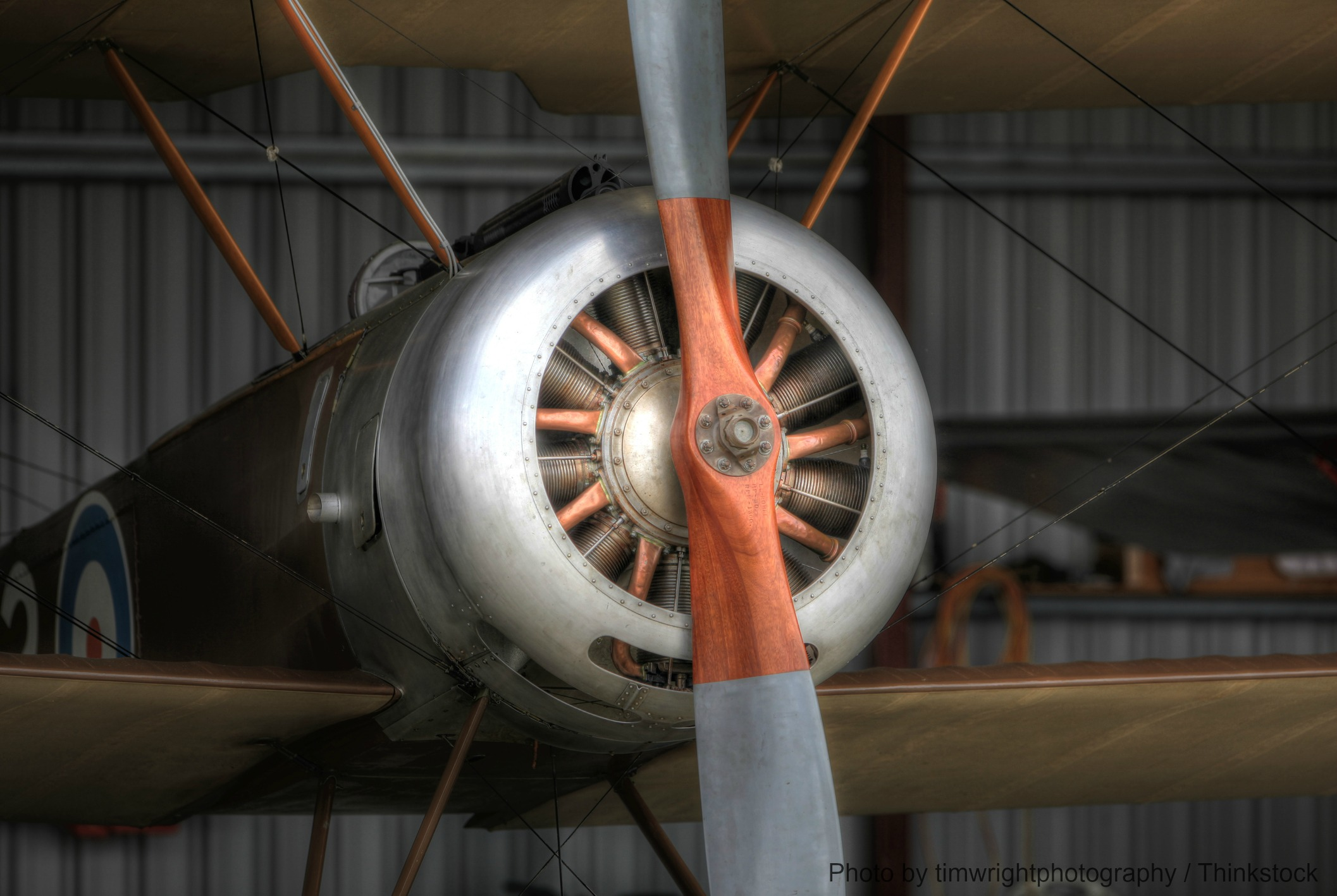 See a WWI plane at the Military Aviation Museum