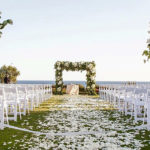 Wedding arch on the water at Mulberry Hill