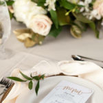 close up of table setting at wedding in NC