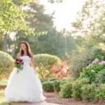 Bride in flower gardens