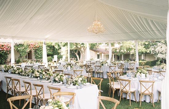 Wedding Catering in North Carolina - outdoor wedding tables set up